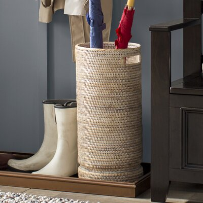 Maguire Umbrella Stand with Water Catch Finish: White Wash
