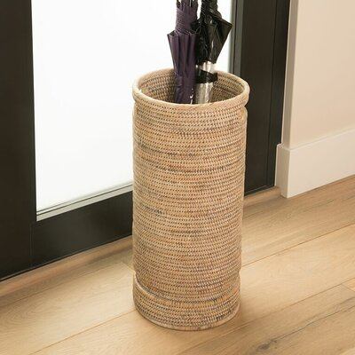 Maguire Umbrella Stand with Water Catch Finish: Honey Brown