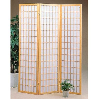 Jemaa 3 Panel Room Divider Color: Natural