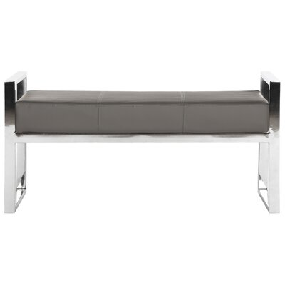 Brigette Upholstered Bench Upholstery Color: Gray