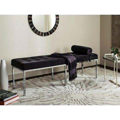 Bilberry Wood Bench Upholstery Color: Black Velvet
