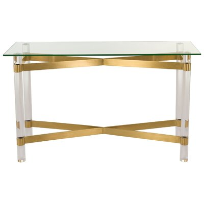 Beecher Console Table Color: Clear/Brass