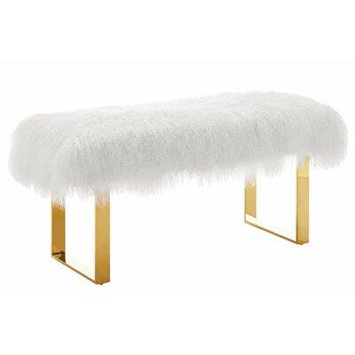 Sheepskin Bench Color: White