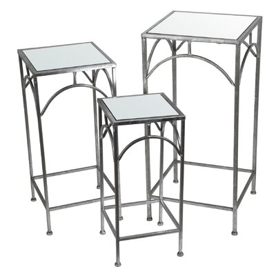 Myriam 3 Piece Nesting Plant Stand Color: Silver