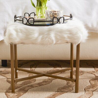 Cajsa Faux Fur Stool