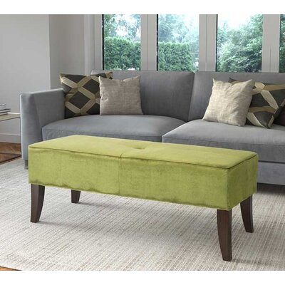 Rugeley Upholstered Bench Upholstery: Green