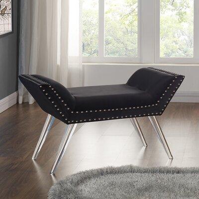 Bedel Upholstered Bench Upholstery Color: Black