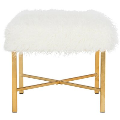 Aveliss Accent Stool Upholstery Color: White