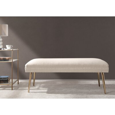 Sunni Wood Bench Upholstery: Sky Neutral