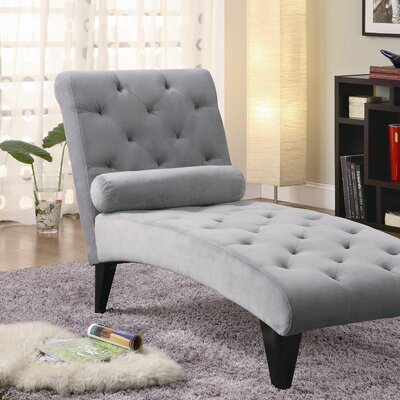 Albanese Chaise Lounge Upholstery: Grey