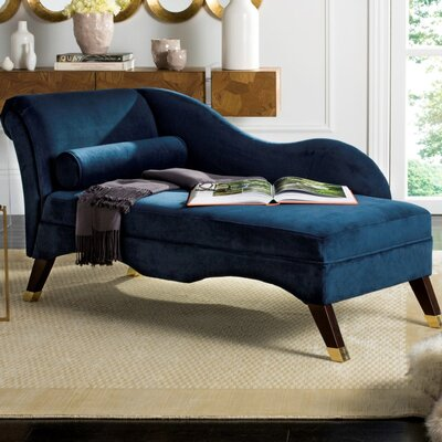 Melania Chaise Lounge Upholstery: Navy