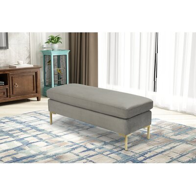 Hovis Upholstered Bench Upholstery: Gray