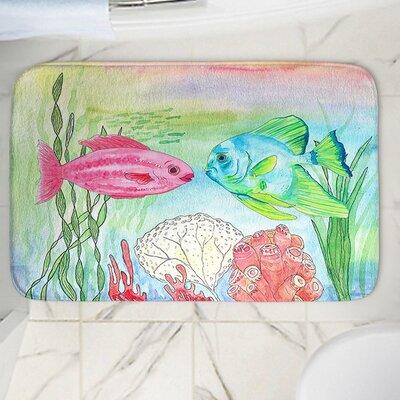 """Catherine Holcombe's Fishs Memory Foam Bath Rug Size: 24"""" W x 17"""" L"""