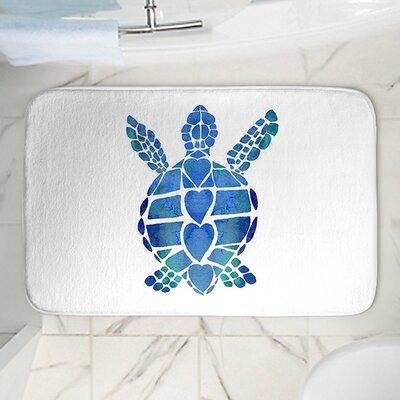 """Catherine Holcombe's Turtle Memory Foam Bath Rug Size: 24"""" W x 17"""" L"""