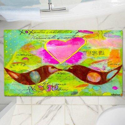 "China Carnella's Heart Memory Foam Bath Rug Size: 36"" W x 24"" L"