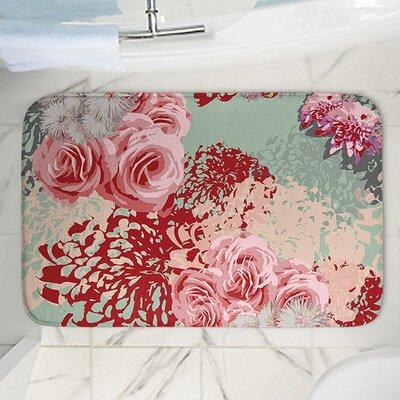 "Mint Blush Memory Foam Bath Rug Size: 24"" W x 17"" L"