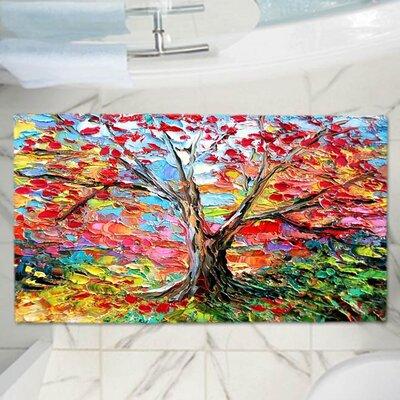 "Aja Ann's Story of the Tree 59 Memory Foam Bath Rug Size: 36"" W x 24"" L"