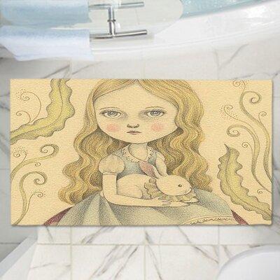 "Amalia K.'s Alice Contemplating Memory Foam Bath Rug Size: 36"" W x 24"" L"