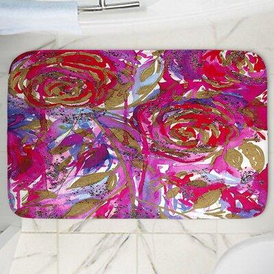 "Rose Combustion Memory Foam Bath Rug Size: 24"" W x 17"" L"