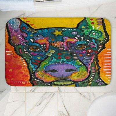 "Dean Russo's Doberman Dog 17 Memory Foam Bath Rug Size: 24"" W x 17"" L"