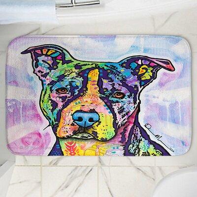 "Dean Russo's Illustrious Pitbull Dog Memory Foam Bath Rug Size: 24"" W x 17"" L"