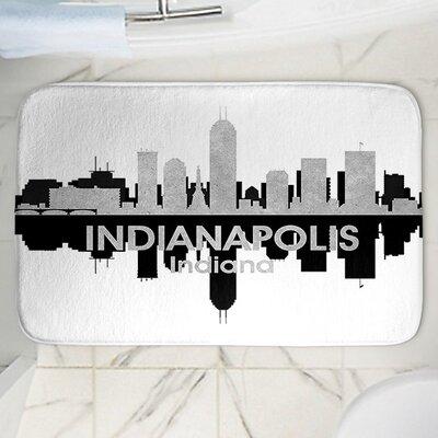 "Angelina Vick's Indianapolis Memory Foam Bath Rug Size: 24"" W x 17"" L"