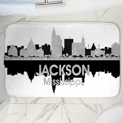 "Angelina Vick's Jackson Memory Foam Bath Rug Size: 24"" W x 17"" L"