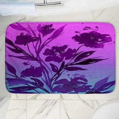 """Pocketful Posies Memory Foam Bath Rug Size: 24"""" W x 17"""" L"""