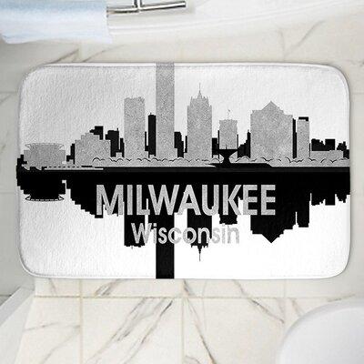 "Angelina Vick's Milwaukee Memory Foam Bath Rug Size: 24"" W x 17"" L"