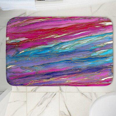 """Agate Magic Memory Foam Bath Rug Size: 24"""" W x 17"""" L"""