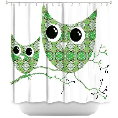 Holthaus Ombre Pattern I Shower Curtain Color: Green