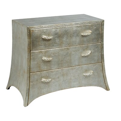 Alligator Print 3 Drawer Accent Chest