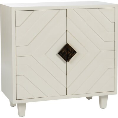 Geometric 2 Door Accent Cabinet