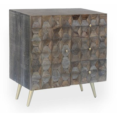 Maia 3 Drawer and 1 Door Accent Chest