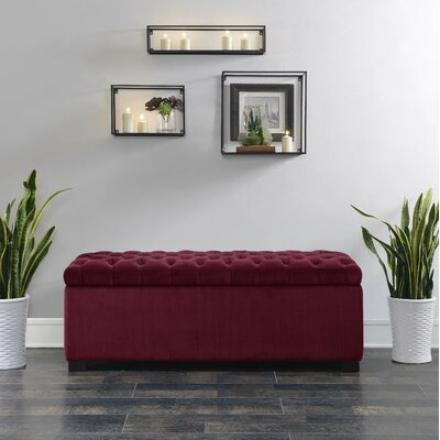 Mabel Shoe Upholstered Storage Bench Color: Cranberry
