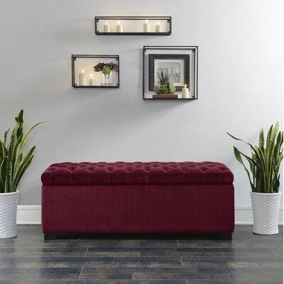 Mabel Shoe Upholstered Storage Bench Color: Cranberry