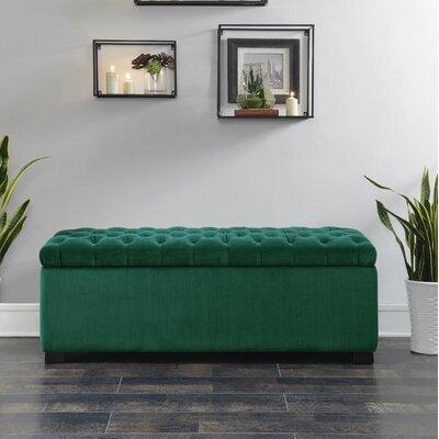 Mabel Shoe Upholstered Storage Bench Color: Emerald