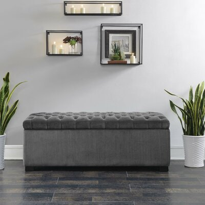 Mabel Shoe Upholstered Storage Bench Color: Slate