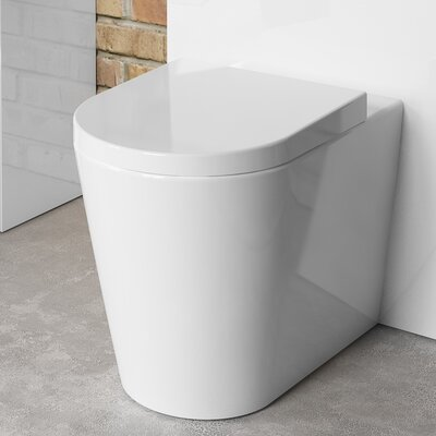 BeModern Bathrooms Back to Wall Toilet with Soft Close Seat