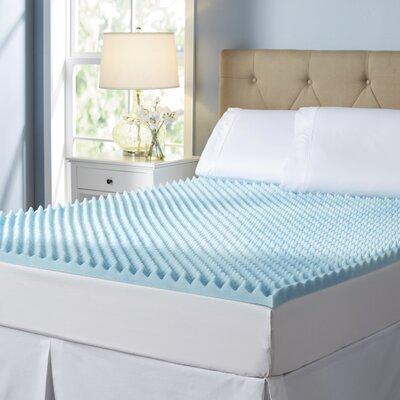 """Wayfair Basics 2"""" Textured Gel Memory Foam Mattress Topper Size: King"""
