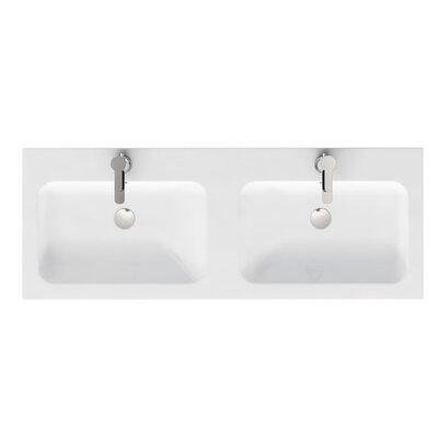 Britton Bathrooms Quattrocast 120cm Recessed Basin
