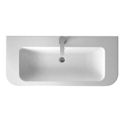 Britton Bathrooms Quattrocast 90cm Semi Recessed Basin