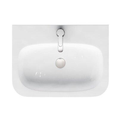 Britton Bathrooms Quattrocast 60cm Semi Recessed Basin