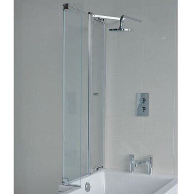 Britton Bathrooms Eco 145 cm x 82 cm Hinged Bath Screen