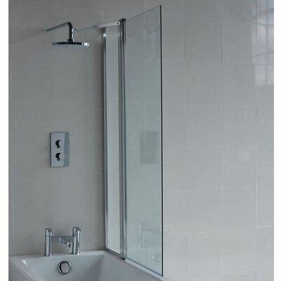 Britton Bathrooms 145 cm x 85 cm Hinged Bath Screen