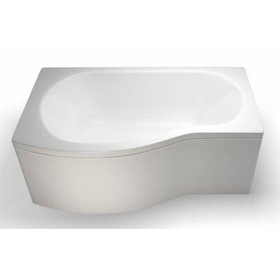 Britton Bathrooms Eco 150cm x 90cm Shower Bath Soaking Bathtub