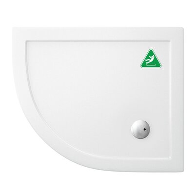 Britton Bathrooms Anti-Bacterial and Anti-Slip Offset Shower Tray