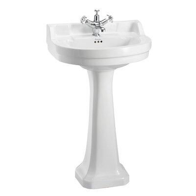 Burlington Edwardian 56cm Full Pedestal Round Basin