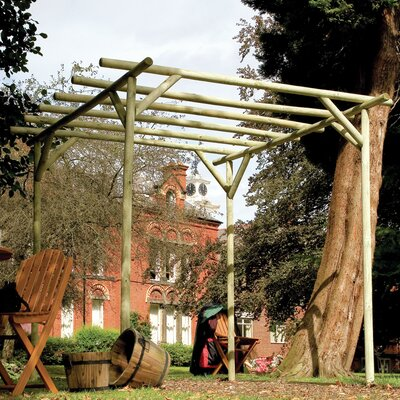 Grange Fencing Rustic Rose Pergola