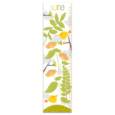 Herold Woodland Birds Personalized Growth Chart